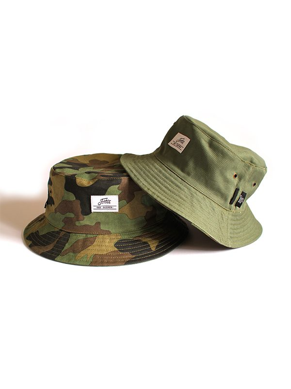 DPM Fishing Bucket Hat by Fortis Eyewear with eyewear retainers