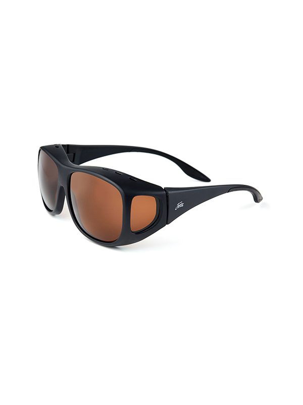 Fortis Eyewear OverWraps 247 Brown Polarised Carp Fishing Sunglasses OW001
