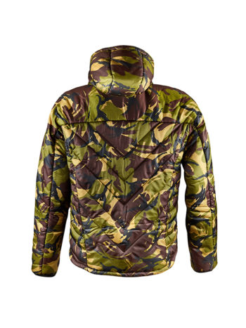 Fortis X Snugpak SJ9 in DPM is the perfect winter coat for fishing
