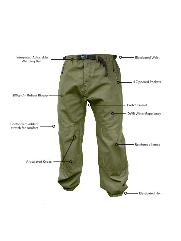 Premium Technical Clothing. Combat Fishing Trousers for the Seasoned Angler